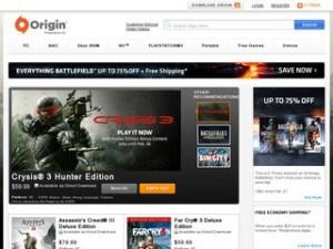 Strona sklepu Origin